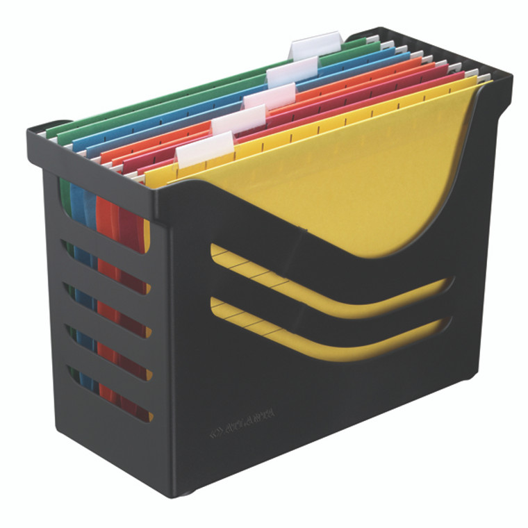 AL01293 Jamema Recycled Office Box with 5 Suspension Files A4 Black A658026998