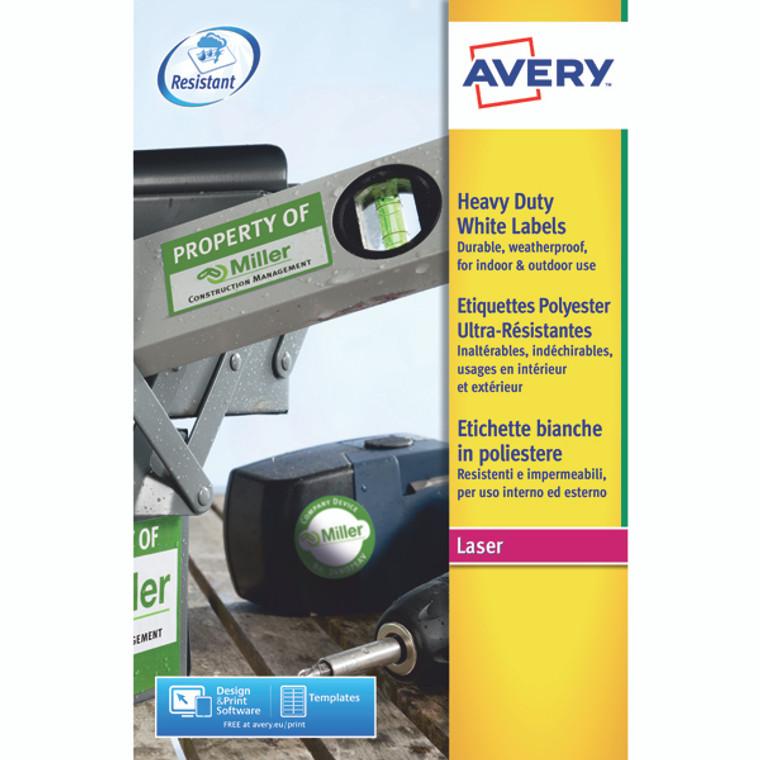 AV10535 Avery Laser Label Heavy Duty 24 Per Sheet White Pack 480 L4773-20