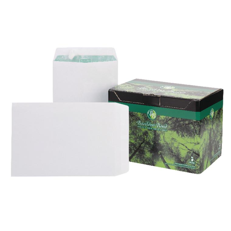 JDM80120 Basildon Bond C4 Pocket Envelope Plain White Pack 250 M80120
