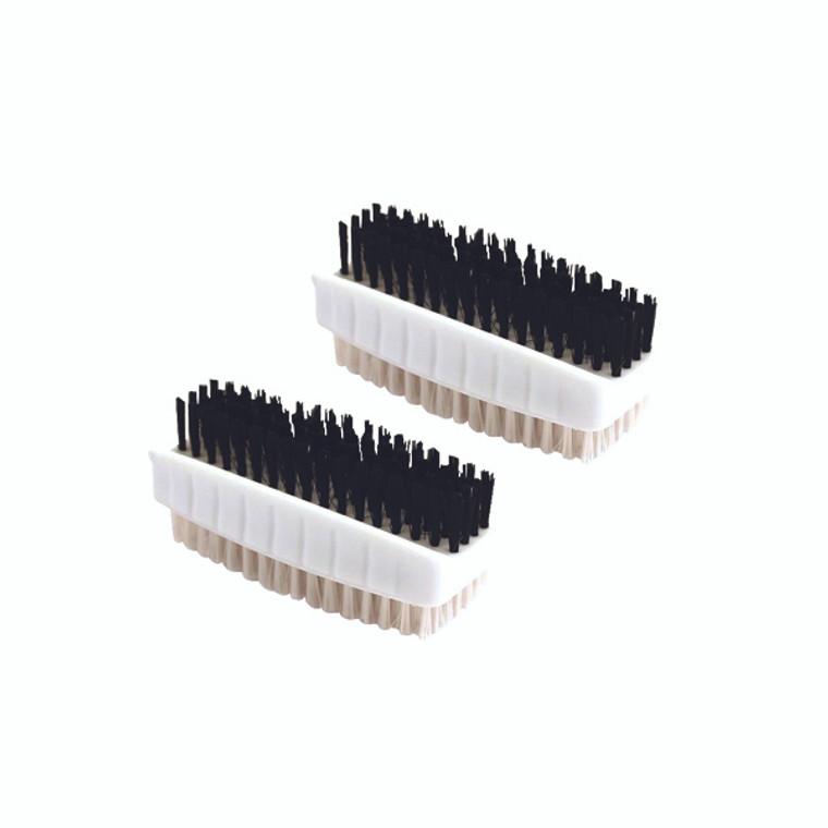CX00537 Plastic Nail Brush White Pack 2 CL 190 2