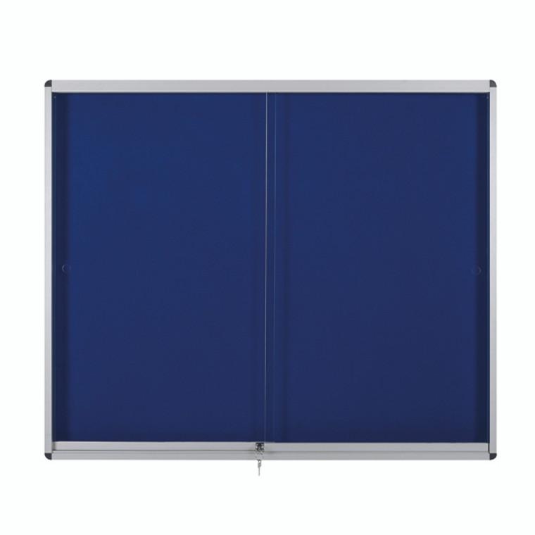 BQ52716 Bi-Office Lockable Internal Display Case 890x625mm Blue VT690107160