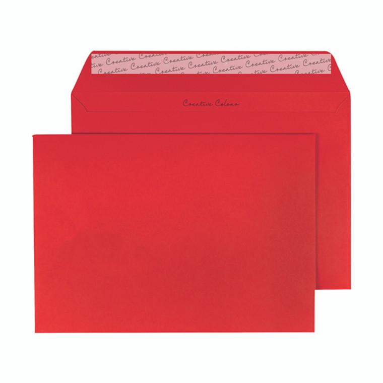 BLK93020 C5 Wallet Envelope Peel Seal 120gsm Pillar Box Red Pack 250 BLK93020