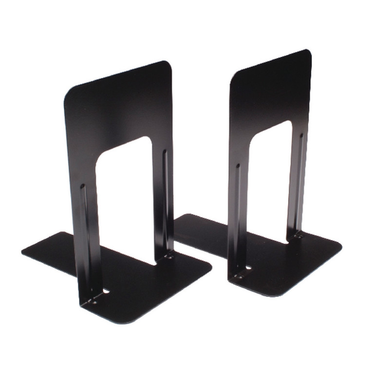 BLO06914 2 x Large Deluxe Bookends Black Made from heavy gauge steel with reinforced rib BLO06914