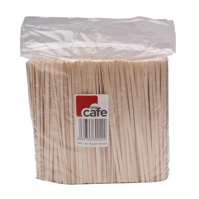 RY00011 Wooden Coffee Stirrers Pack 1000 EIWS