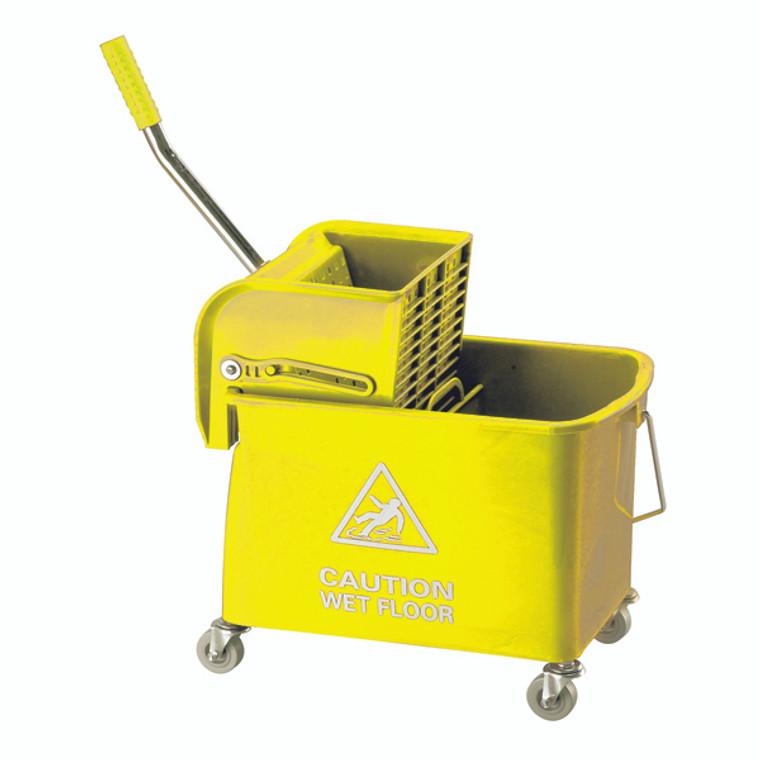 CNT00055 Mobile Mop Bucket Wringer 20 Litre Yellow 101248YL