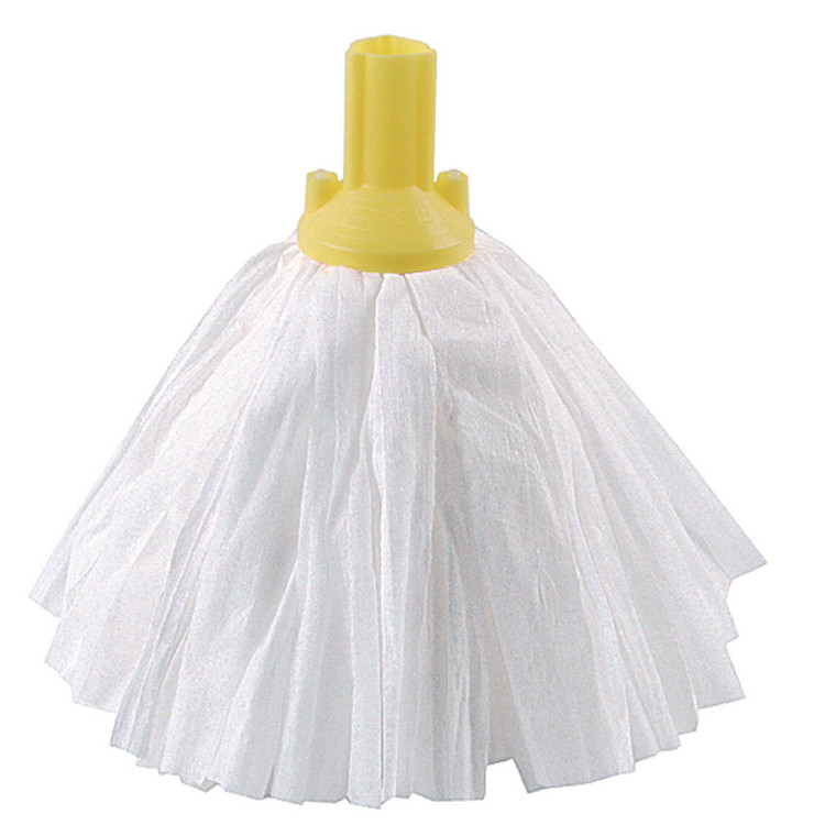 CNT03462 Exel Big White Mop Head Yellow Pack 10 102199YL