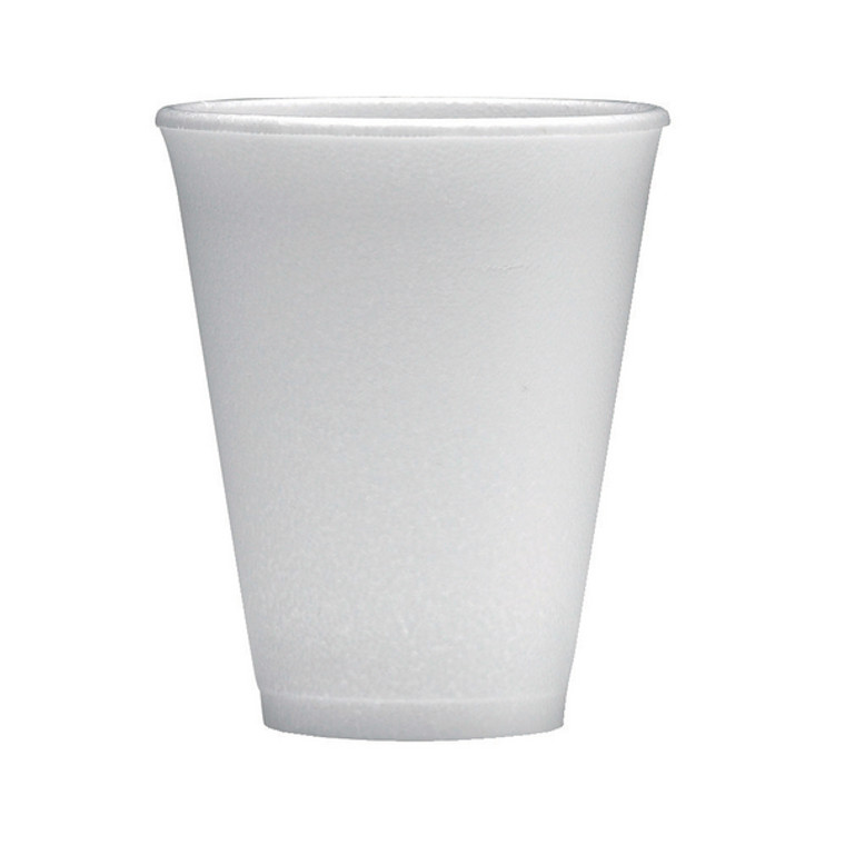 WX00031 Polystyrene Cup 7oz White Can hold up 7oz fluid easily disposable Pack 1000 0506048