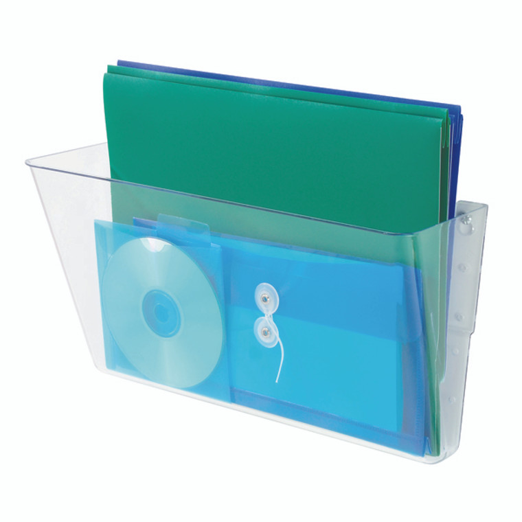 DF73201 Deflecto Linking Wall File Pocket A4 Clear Stacked vertically increased storage 73201