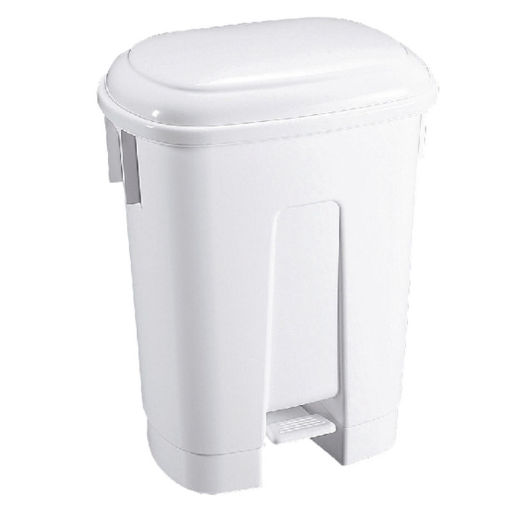 SBY14758 Derby Plastic Pedal Bin 60L White 348011