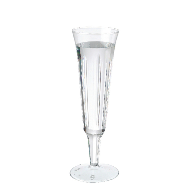 CPD02570 Plastic Champagne Glasses Clear Pack 10 C7025A