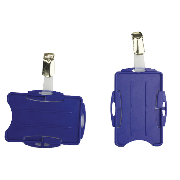 DB90938 Durable Duo Security Pass Holder Blue Pack 25 8218 06