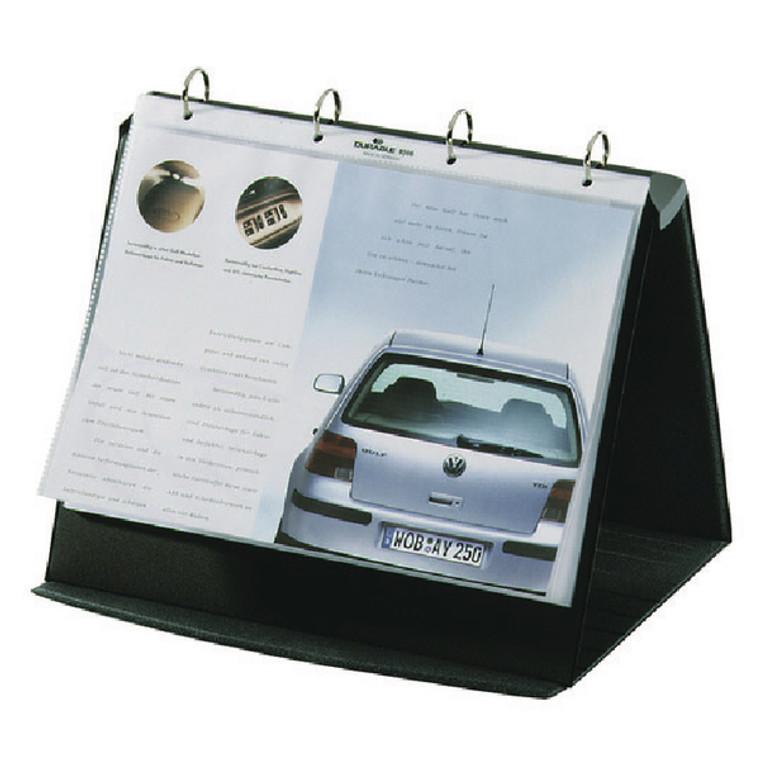 DB81079 Durable Durastar Table Top Presenter A3 Landscape Black 8569 39