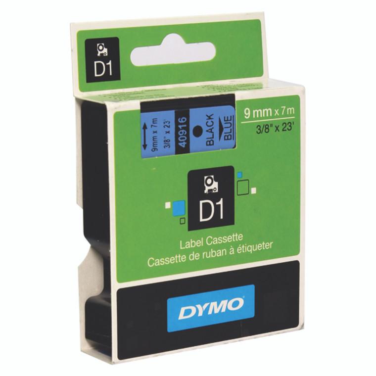 ES40916 Dymo 40916 D1 LabelMaker Tape 9mm x 7m Black on Blue S0720710