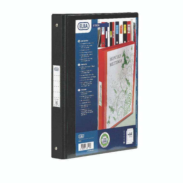 BX130410 Elba Vision Black A4 2 Ring Binder 100080891