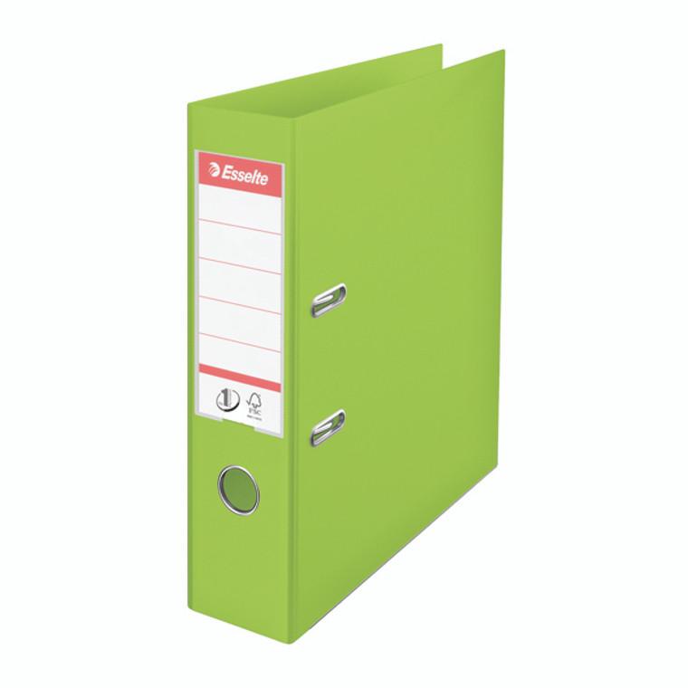 ES80663 Esselte 75mm Lever Arch File Polypropylene A4 Green Pack 10 624069