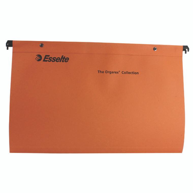 ES10402 Esselte Orgarex Suspension File V Base Foolscap Orange Pack 50 10402
