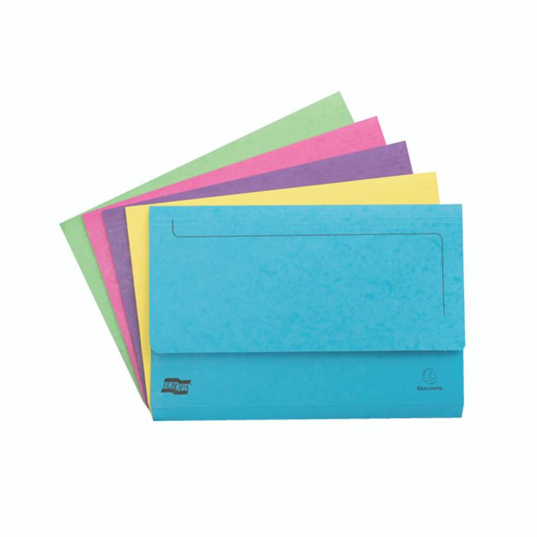 GH13156 Exacompta Europa Pocket Wallet Foolscap Assorted C Pack 25 3156Z