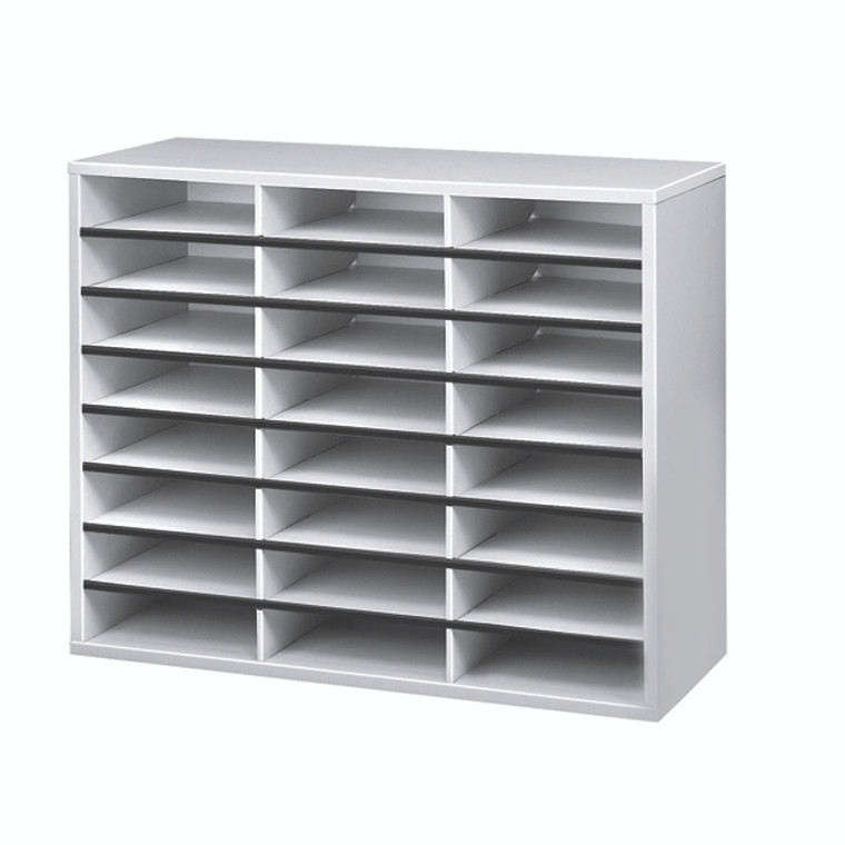 BB25041 Fellowes 24 Compartment Literature Sorter A4 Dove Grey 25041