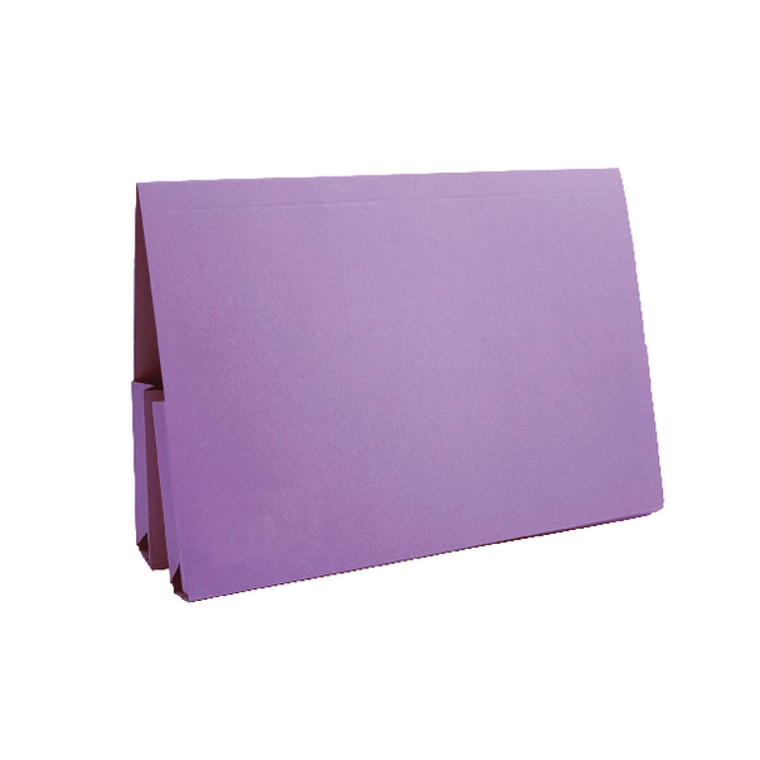 JT37214 Exacompta Guildhall Mauve Double Pocket Legal Wallet Fc Pack 25 37214