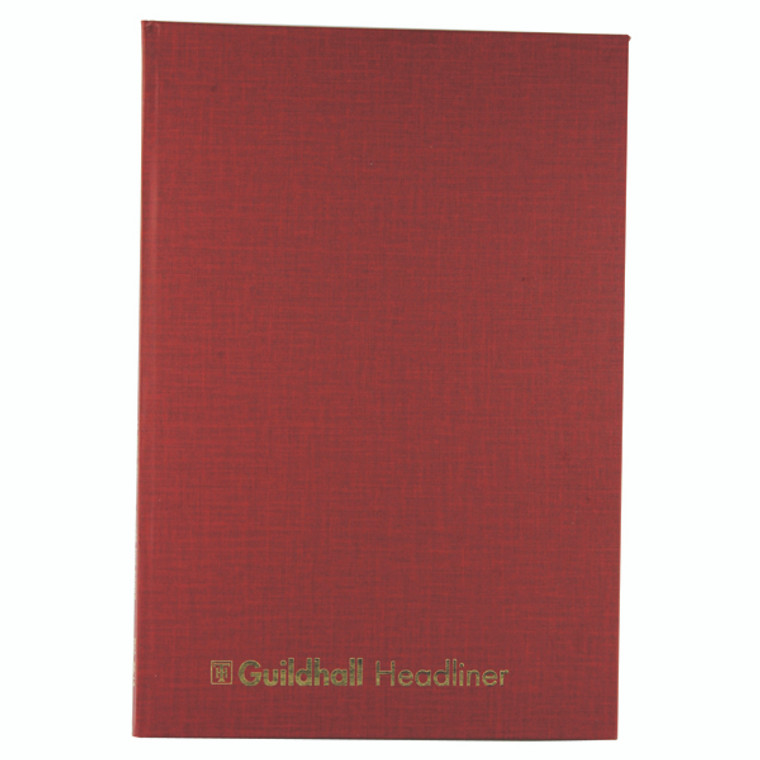 GH3814 Exacompta Guildhall Headliner Book 80 Pages 298x203mm 38 14 1151