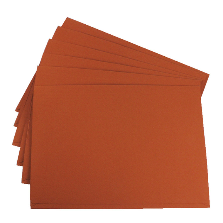 GH14027 Exacompta Guildhall Brief Size Pocket Wallet 14x10in Orange Pack 50 PW3-ORG