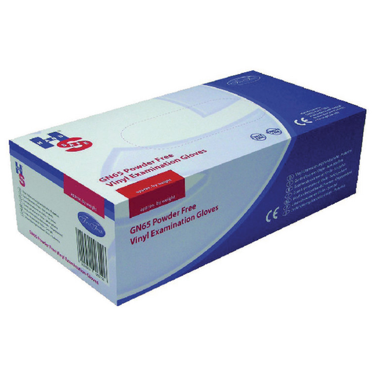 HEA00311 Handsafe Powder-Free Clear Small Vinyl Gloves Pack 1000 HEA00311