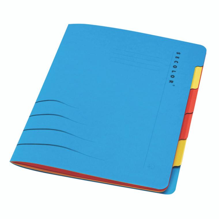 JM30926 Jalema Secolor Sixtab 6- Part File A4 Blue Pack 5 8331600-10791