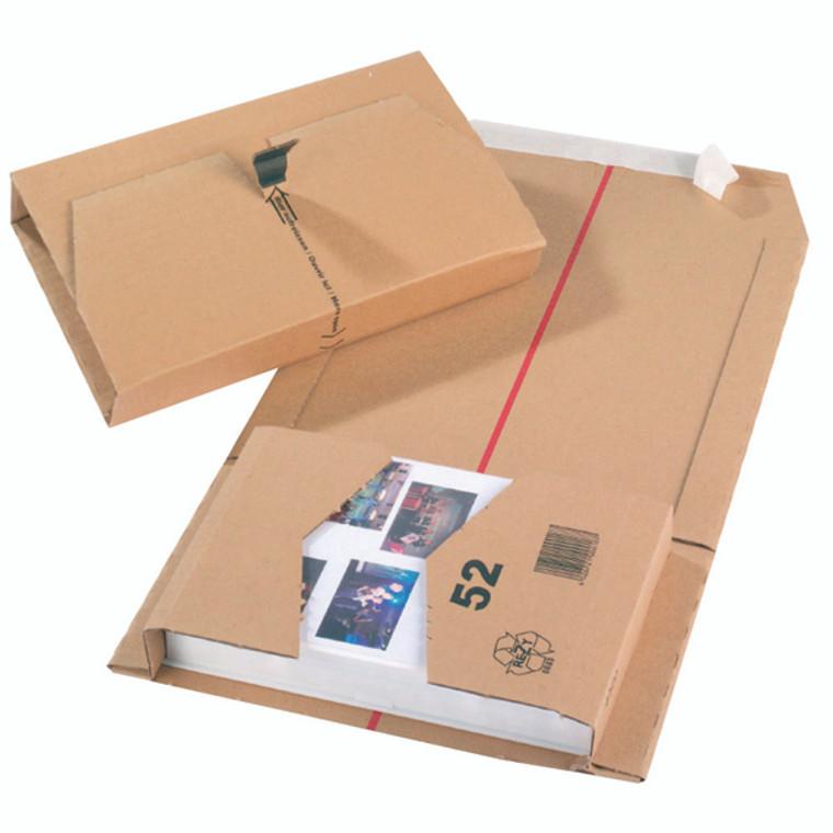JF79071 Brown 251x165x60mm Mailing Box Self-adhesive strip sealing Pack 20 11208
