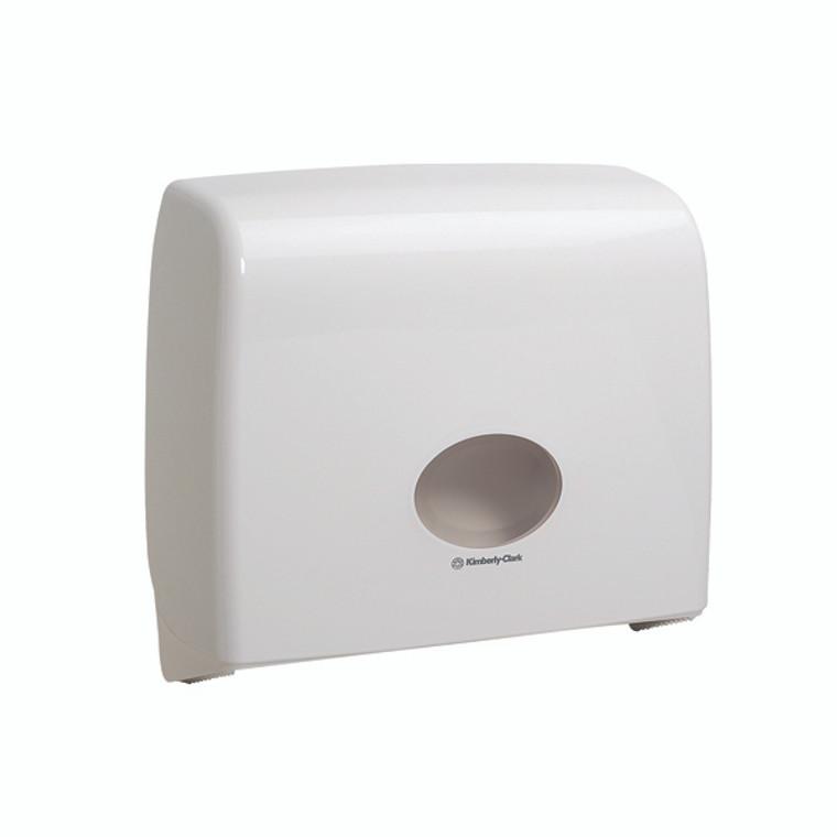 KC01203 Aquarius Ripple Midi Jumbo Non-Stop Toilet Tissue Dispenser White 6991