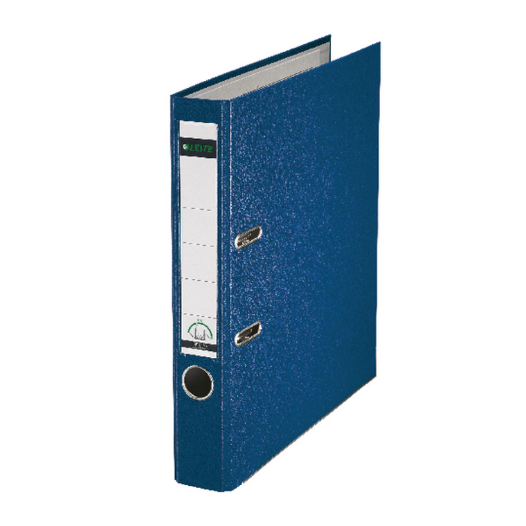 LZ101535 Leitz 180 Lever Arch File Poly 52mm A4 Blue Pack 10 10151035