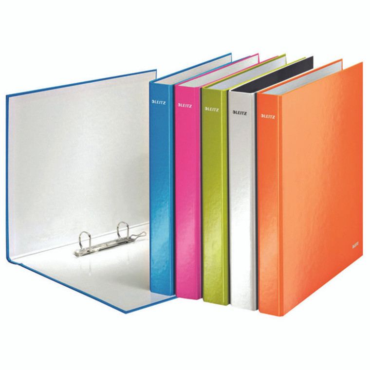 LZ32919 Leitz Wow 2 D-Ring Binder 25mm A4 Plus Assorted Pack 10 42412099