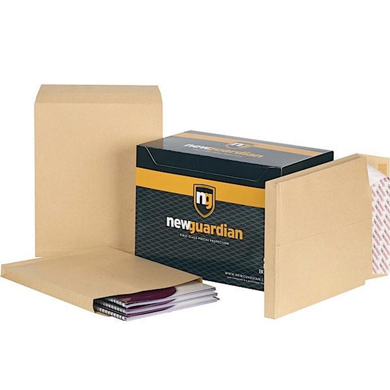 JDM27466 New Guardian Envelope P Seal 381x254x25mm Manilla Pack 100 M27466