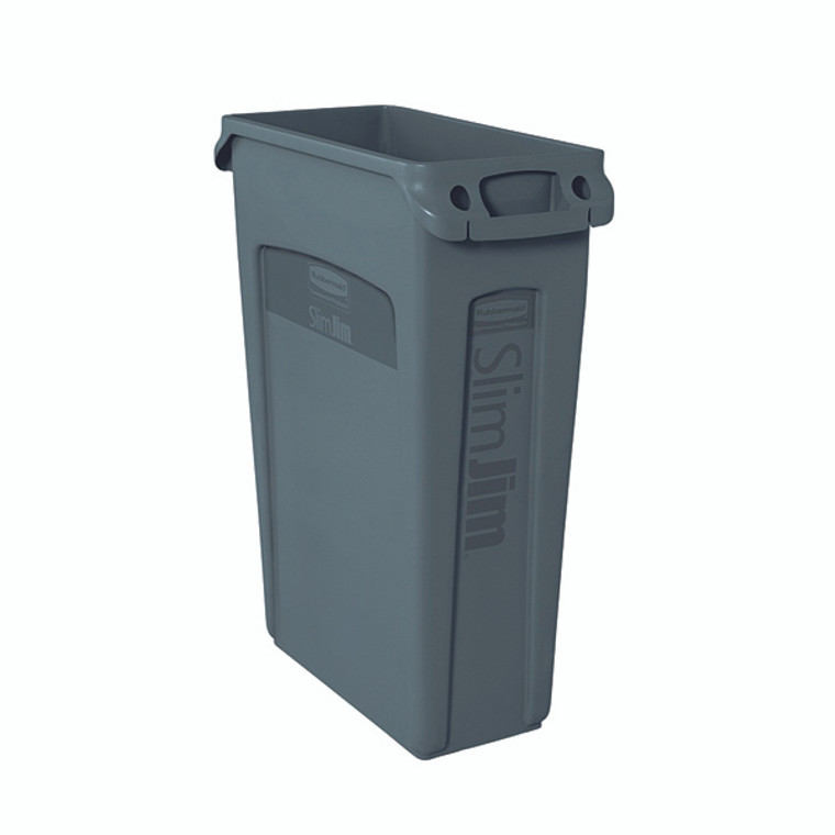RU18637 Rubbermaid Slim Jim Venting Channel Container 87 Litre Grey 3540-60-GRY