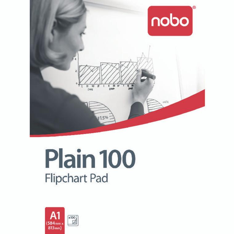 NB33681 Nobo Plain Flipchart Pad A1 100 Sheet Pack 2 34633681