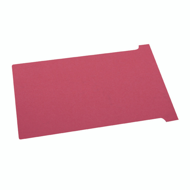 NB38906 Nobo T-Card Size 2 48 x 85mm Red Pack 100 2002003