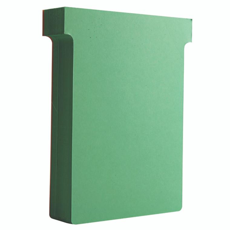 NB38913 Nobo T-Card Size 3 80 x 120mm Light Green Pack 100 32938913