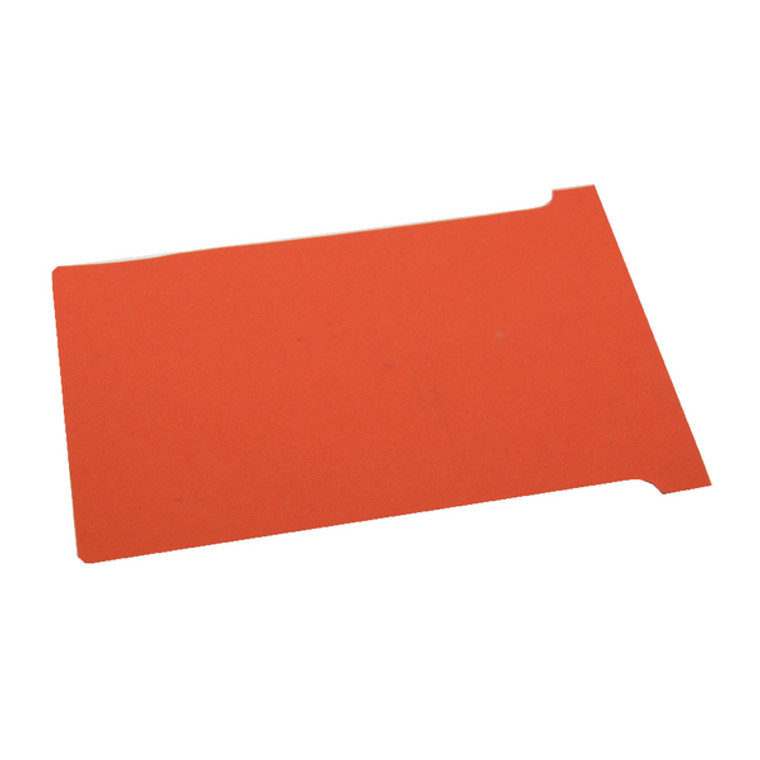 NB38917 Nobo T-Card Size 3 80 x 120mm Red Pack 100 2003003