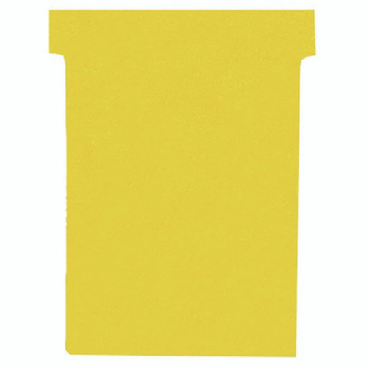 NB38926 Nobo T-Card Size 4 112 x 180mm Yellow Pack 100 2004004