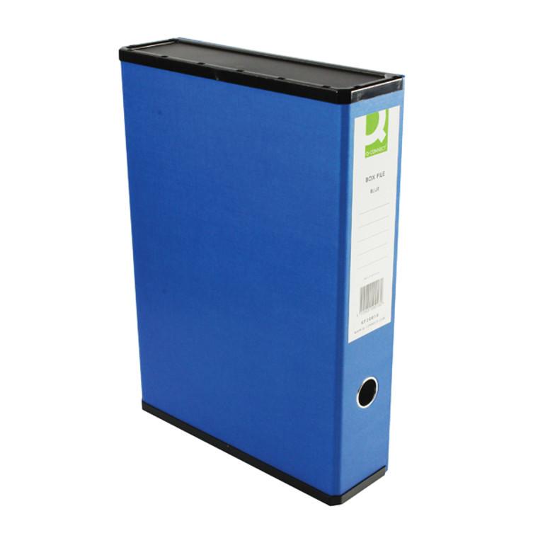 KF20018 Q-Connect 75mm Box File Foolscap Blue Pack 5 31813KIN0