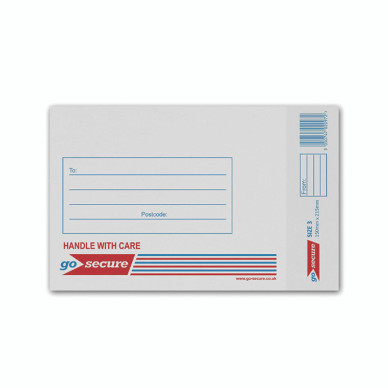 KF71448 GoSecure Bubble Lined Envelope Size 3 150x215mm White Pack 100 KF71448
