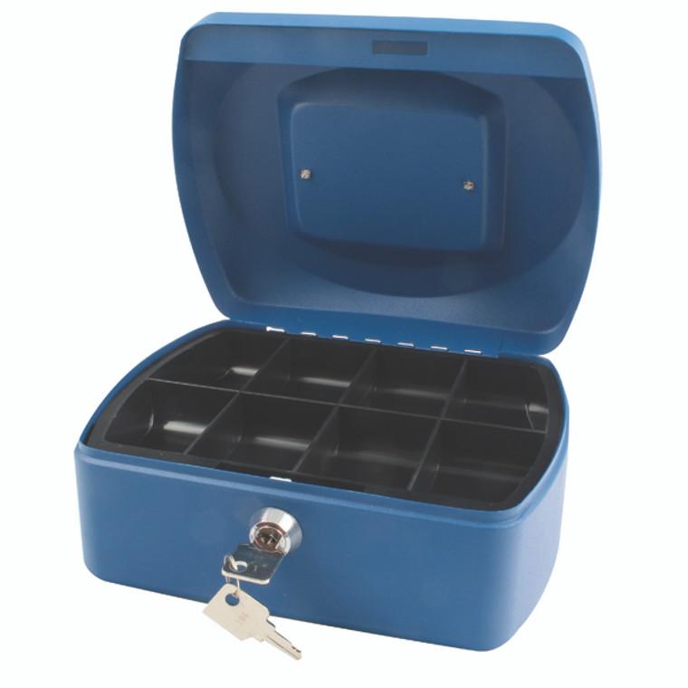 KF02623 Q-Connect Cash Box 8 Inch Blue KF02623