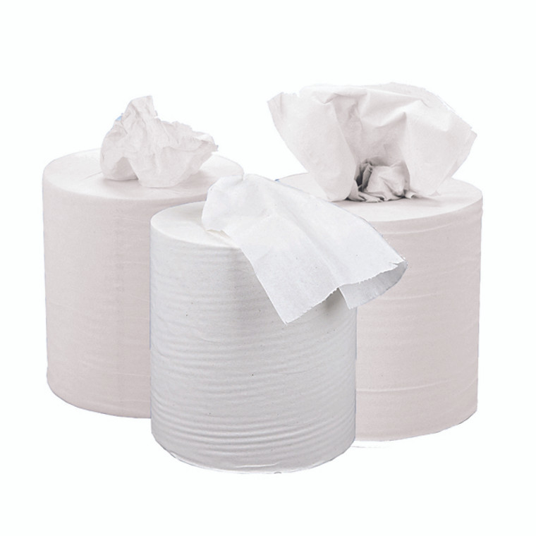 KF03804 2Work 2-Ply Centrefeed Roll 150m White Pack 6 KF03804