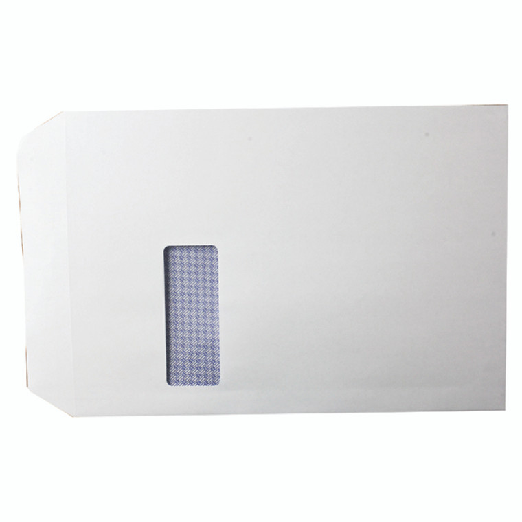 KF3535 Q-Connect C4 Envelopes Window Self Seal 100gsm White Pack 250 KF3535