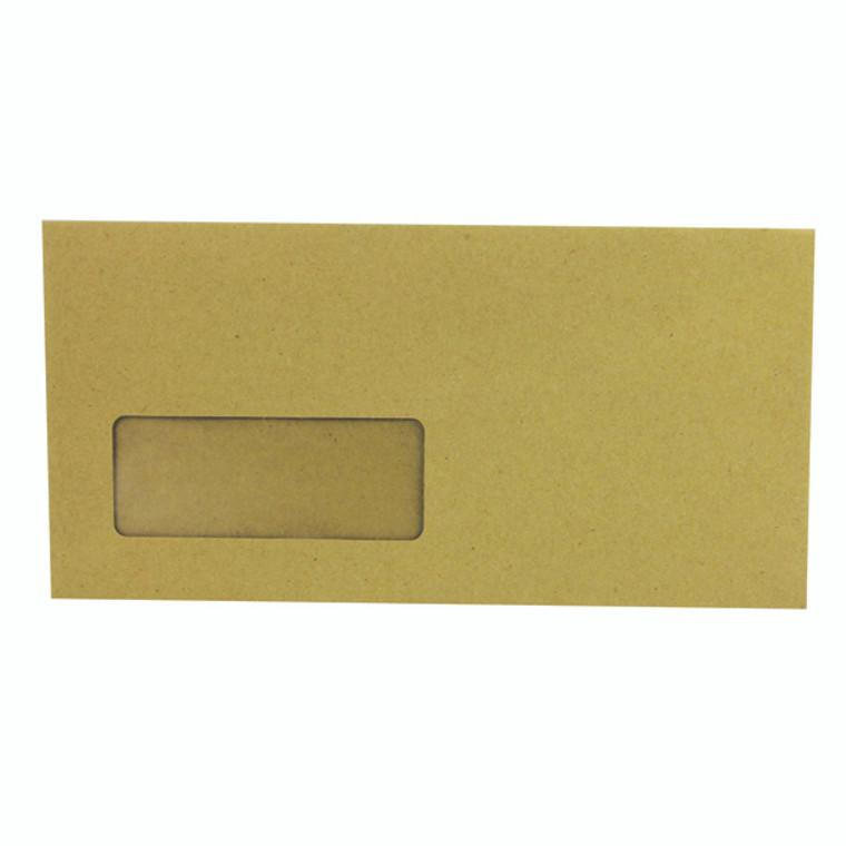 KF3423 Q-Connect DL Envelopes Wallet Window Gummed 70gsm Manilla Pack 1000 KF3423