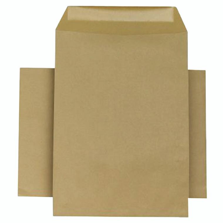KF3445 Q-Connect Envelope 254x178mm Pocket Self Seal 90gsm Manilla Pack 250 KF3445