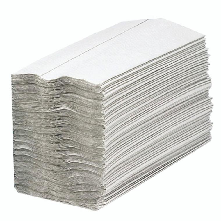 KF03802 2Work 1-Ply C-Fold Hand Towels White Pack 2880 HC128WHVW
