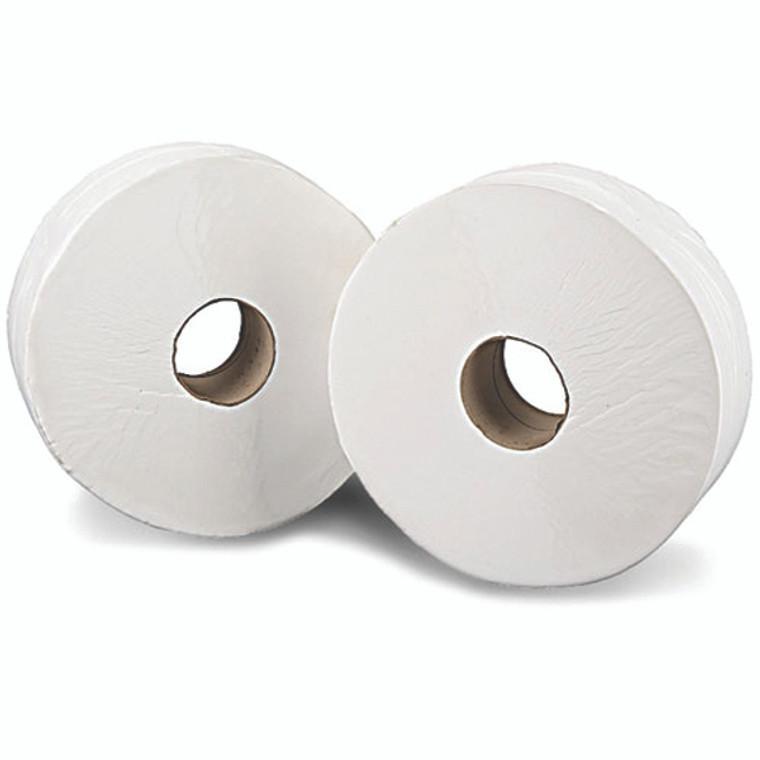 KF03811 2Work 2-Ply Mini Jumbo Toilet Roll 200 Metres Pack 12 J26200VW