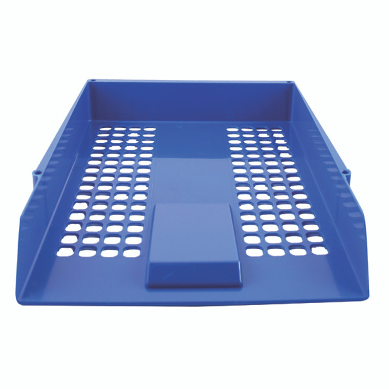 KF10052 Q-Connect Letter Tray Blue CP159KFBLU