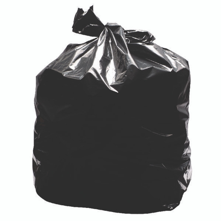 KF73375 2Work Light Duty Refuse Sack Black Pack 200 KF73375