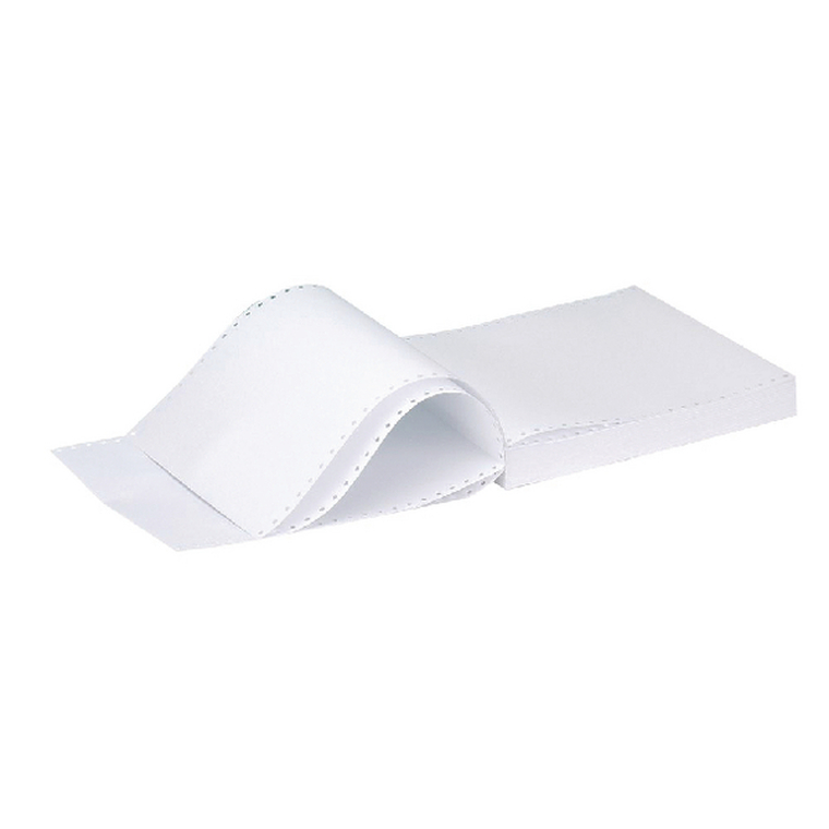 KF50067 Q-Connect 11x9 5 Inches 1-Part Micro-Perforated Plain Listing Paper 70gsm White 2000 Sheets C17MP